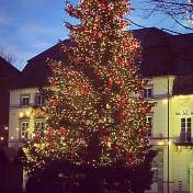 Christmas tree in Dusseldorf - Altstadt.