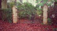 And gates to who lives there? And why haven't they cleared the Autumn leaves? Have they forgotten or been forgotten.