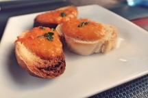 Bread with tomato spread