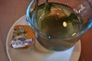 Mint tea with honey