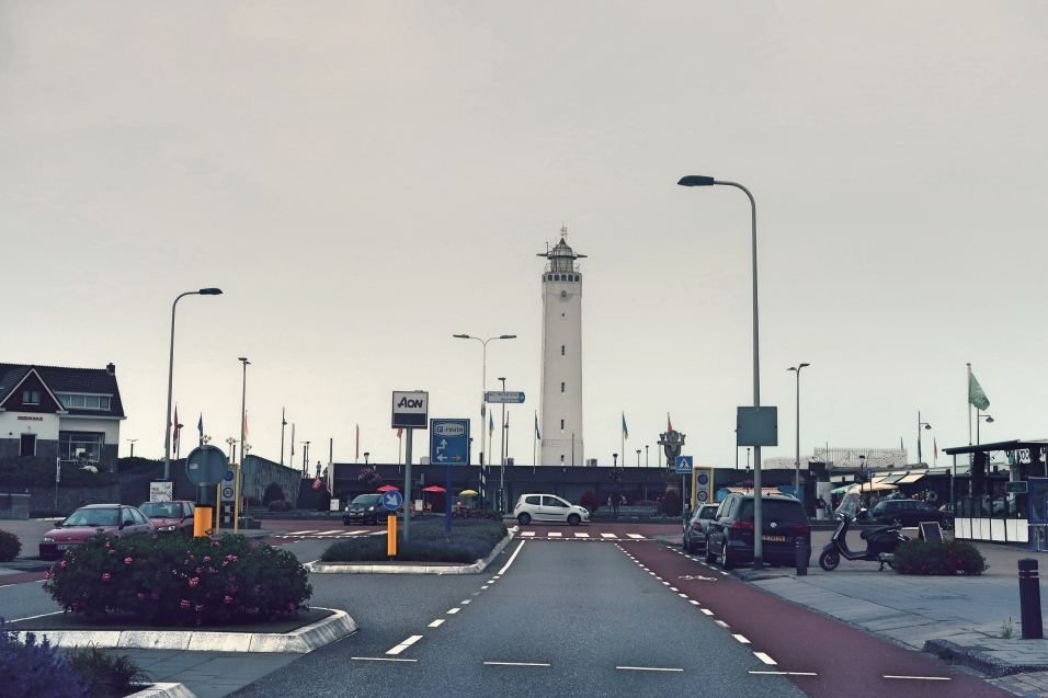 Lighthouse on the beach in Noordwijk