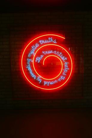 Window or Wall Sign by Bruce Nauman