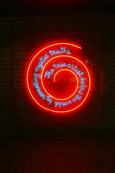 Window or Wall Sign by Bruce Nauman